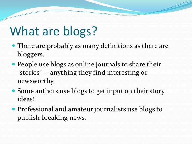 Stories, Blogs, Essays, and Peer Review