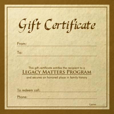 LEGACY MATTERS FINANCIAL SERVICES PROGRAM